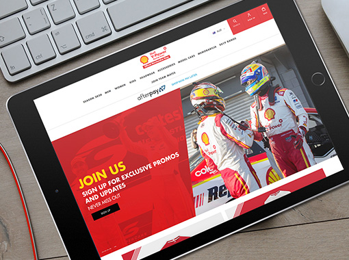 Shell V-Power Racing Team eCommerce Shop